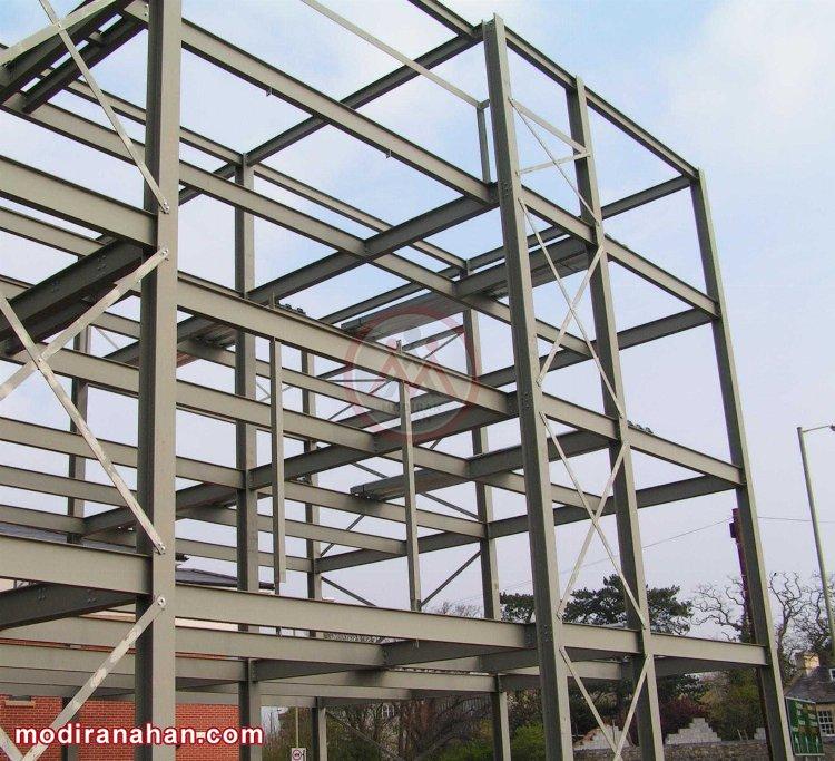 ساختمان با اسکلت فولادی