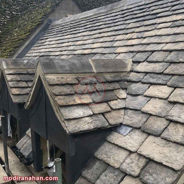 استفاده از سنگ در سقف ساختمان