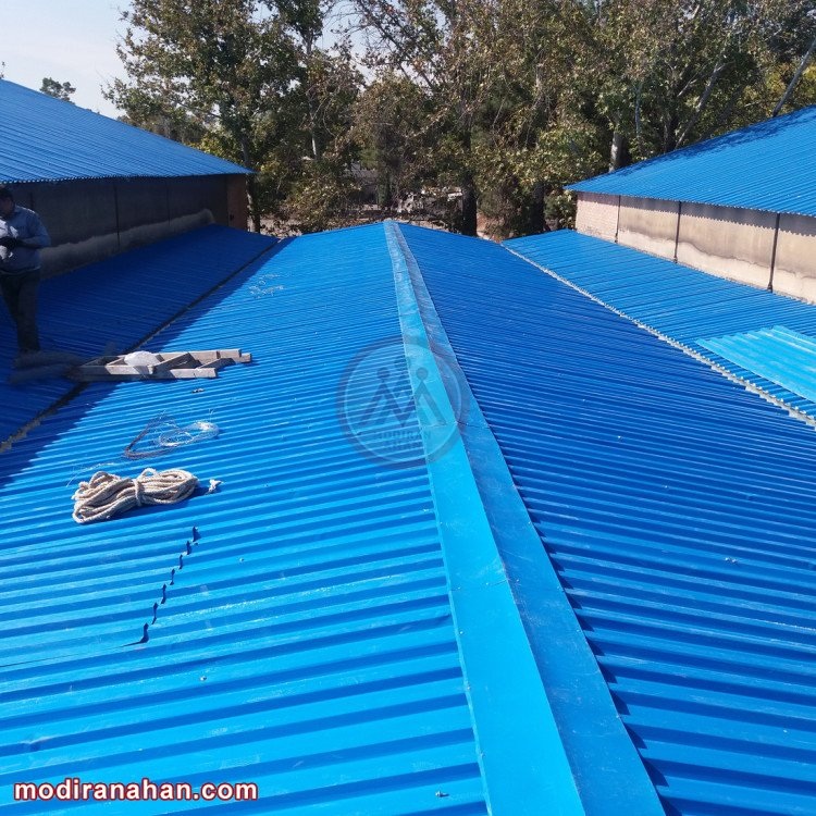 سقف شیروانی برای سوله
