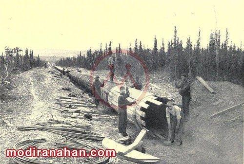 اولین خط لوله گاز با طول زیاد در آمریکا