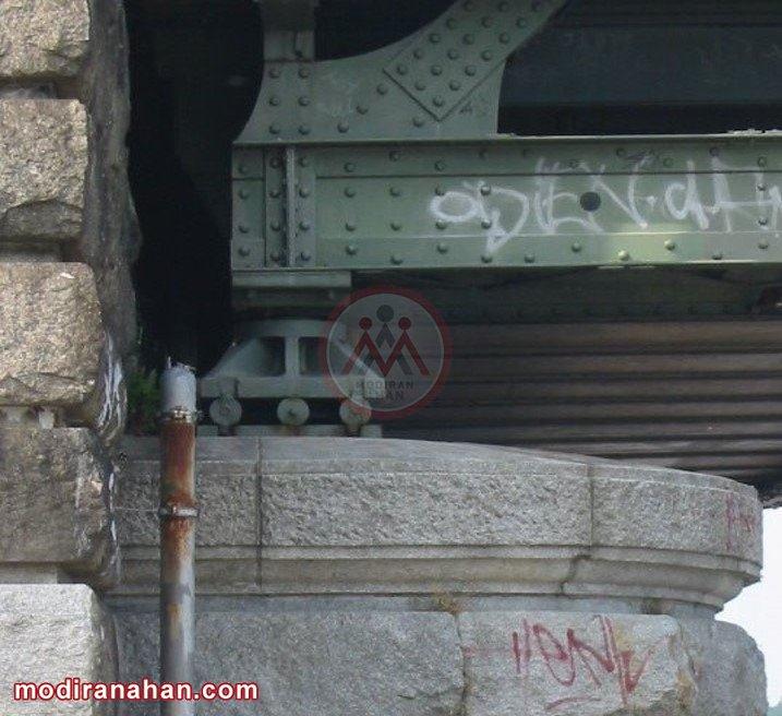 تکیه گاه غلتکی در انتهای یک پل