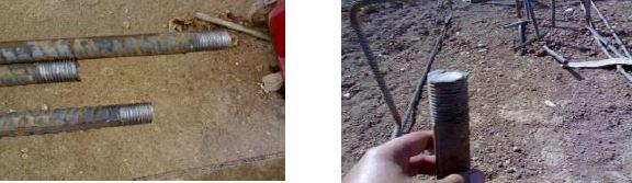 میلگرد آجدار آماده برای نصب کوپلر