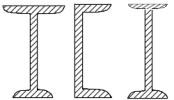 مقطع I شکل با یک محور تقارن مقاطع ناودانی